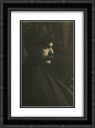 Alfred Stieglitz 18x24 Black or Gold Ornate Framed and Double Matted Art Print by Frank Eugene
