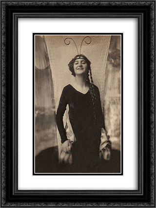 Fritzi von Derra - The Exotic Dancer 18x24 Black or Gold Ornate Framed and Double Matted Art Print by Frank Eugene
