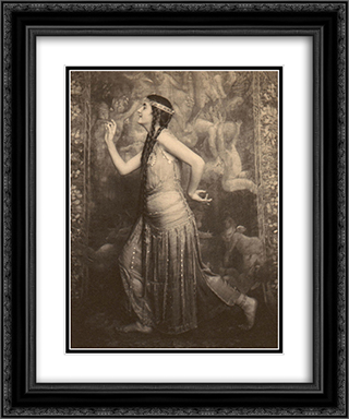 Fritzi von Derra - The Oriental Dancer 20x24 Black or Gold Ornate Framed and Double Matted Art Print by Frank Eugene