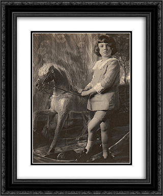 H.R.H. Prince Leopold and His Hobbyhorse 20x24 Black or Gold Ornate Framed and Double Matted Art Print by Frank Eugene