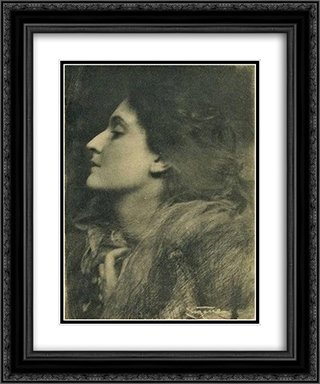 Lady of Charlotte 20x24 Black or Gold Ornate Framed and Double Matted Art Print by Frank Eugene
