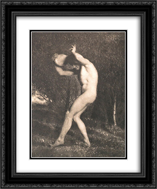 Male Nude 20x24 Black or Gold Ornate Framed and Double Matted Art Print by Frank Eugene