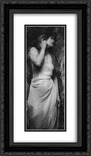Miss Gene W. 14x24 Black or Gold Ornate Framed and Double Matted Art Print by Frank Eugene