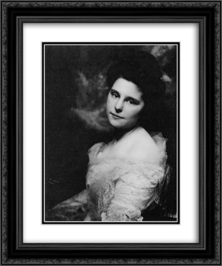 Portrait of a Woman 20x24 Black or Gold Ornate Framed and Double Matted Art Print by Frank Eugene