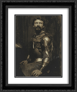 Self Portrait in Armor 20x24 Black or Gold Ornate Framed and Double Matted Art Print by Frank Eugene