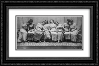 The Graduating Class 24x16 Black or Gold Ornate Framed and Double Matted Art Print by Frank Eugene