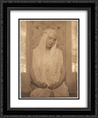 The Oriental Bride 20x24 Black or Gold Ornate Framed and Double Matted Art Print by Frank Eugene