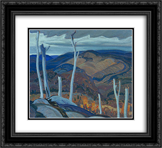 A Grey Day 22x20 Black or Gold Ornate Framed and Double Matted Art Print by Franklin Carmichael