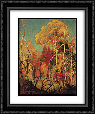 Autumn in Orillia 20x24 Black or Gold Ornate Framed and Double Matted Art Print by Franklin Carmichael