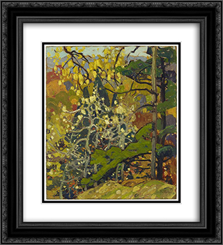 Autumn Splendor 20x22 Black or Gold Ornate Framed and Double Matted Art Print by Franklin Carmichael