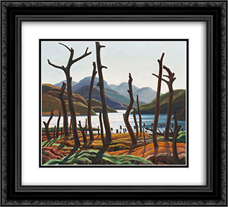 Cranberry Lake 22x20 Black or Gold Ornate Framed and Double Matted Art Print by Franklin Carmichael