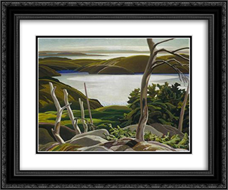 Frood Lake 24x20 Black or Gold Ornate Framed and Double Matted Art Print by Franklin Carmichael