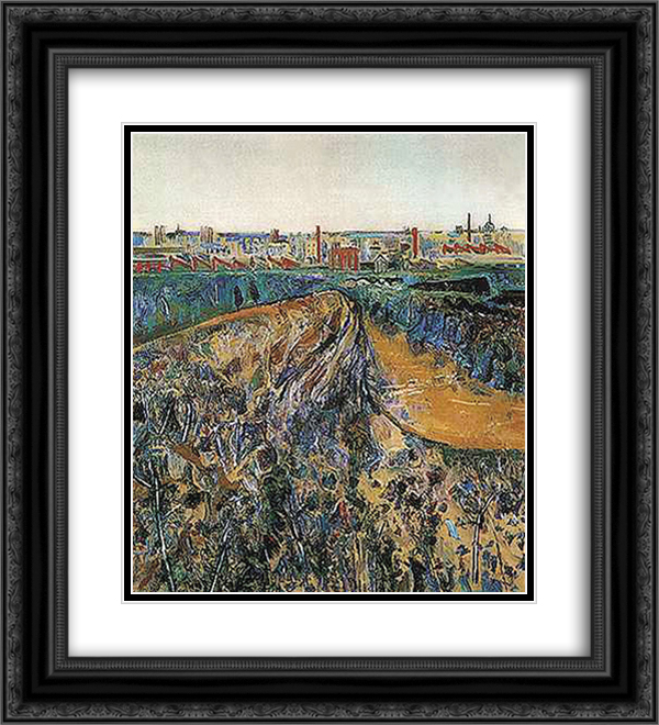 Dight's Falls 20x22 Black or Gold Ornate Framed and Double Matted Art Print by Fred Williams