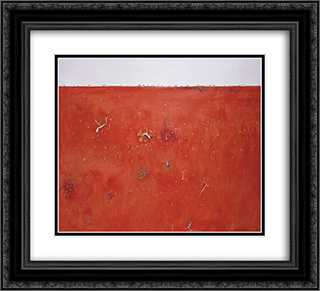 Red Landscape 22x20 Black or Gold Ornate Framed and Double Matted Art Print by Fred Williams