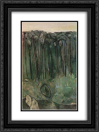 Sapling Forest 18x24 Black or Gold Ornate Framed and Double Matted Art Print by Fred Williams