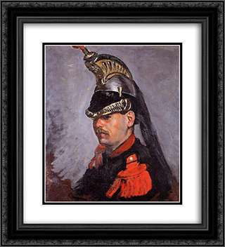 Portrait of Alphonse Tissie 20x22 Black or Gold Ornate Framed and Double Matted Art Print by Frederic Bazille