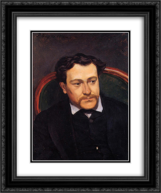 Portrait of edouard Blau 20x24 Black or Gold Ornate Framed and Double Matted Art Print by Frederic Bazille