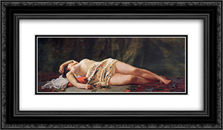 Reclining Nude 24x14 Black or Gold Ornate Framed and Double Matted Art Print by Frederic Bazille