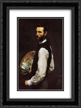 Self-Portrait 18x24 Black or Gold Ornate Framed and Double Matted Art Print by Frederic Bazille