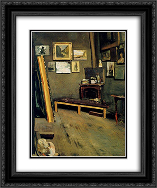Studio of The Rue Visconti 20x24 Black or Gold Ornate Framed and Double Matted Art Print by Frederic Bazille