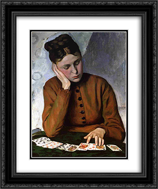 The Fortune Teller 20x24 Black or Gold Ornate Framed and Double Matted Art Print by Frederic Bazille