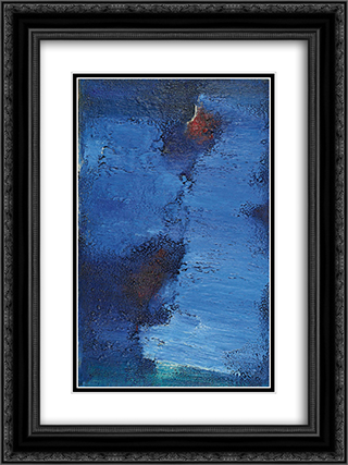 Untitled (Blue Field) 18x24 Black or Gold Ornate Framed and Double Matted Art Print by Frederic Matys Thursz
