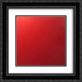 Vermilion II 20x20 Black or Gold Ornate Framed and Double Matted Art Print by Frederic Matys Thursz