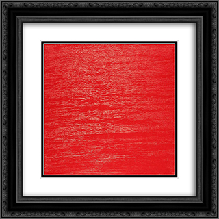 Vermillion Diary No. 4 20x20 Black or Gold Ornate Framed and Double Matted Art Print by Frederic Matys Thursz