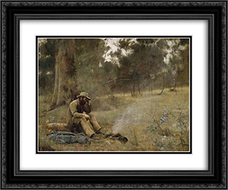Down on his luck 24x20 Black or Gold Ornate Framed and Double Matted Art Print by Frederick McCubbin