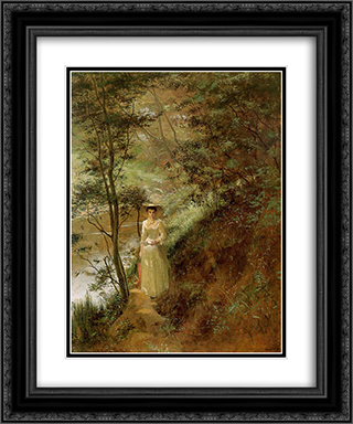The Letter 20x24 Black or Gold Ornate Framed and Double Matted Art Print by Frederick McCubbin