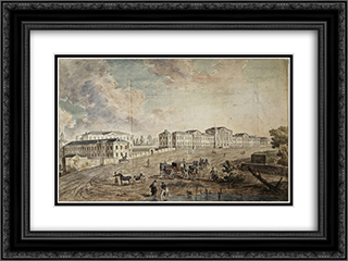 Military Hospital at Lefortovo 24x18 Black or Gold Ornate Framed and Double Matted Art Print by Fyodor Alekseyev