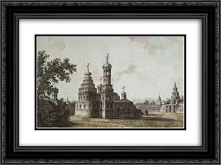 New Jerusalem Monastery 24x18 Black or Gold Ornate Framed and Double Matted Art Print by Fyodor Alekseyev
