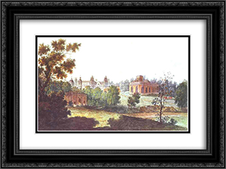 Palace in Tsaritsyno in the Vicinity of Moscow 24x18 Black or Gold Ornate Framed and Double Matted Art Print by Fyodor Alekseyev