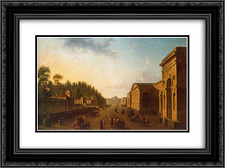 Potemkin street 24x18 Black or Gold Ornate Framed and Double Matted Art Print by Fyodor Alekseyev