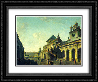 The Boyar's Ground in the Moscow Kremlin 24x20 Black or Gold Ornate Framed and Double Matted Art Print by Fyodor Alekseyev