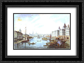 The Foundling Hospital in Moscow 24x18 Black or Gold Ornate Framed and Double Matted Art Print by Fyodor Alekseyev