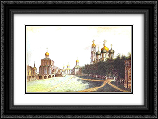 The Monastery of Trinity and St. Sergius 24x18 Black or Gold Ornate Framed and Double Matted Art Print by Fyodor Alekseyev