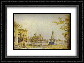 Town Square in Kherson 24x18 Black or Gold Ornate Framed and Double Matted Art Print by Fyodor Alekseyev
