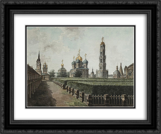 Trinity Lavra of St. Sergius 24x20 Black or Gold Ornate Framed and Double Matted Art Print by Fyodor Alekseyev