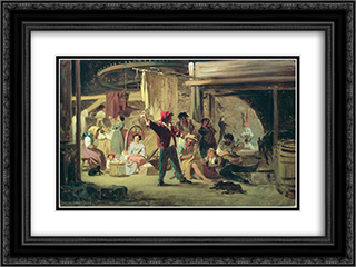 Backstage of the circus 24x18 Black or Gold Ornate Framed and Double Matted Art Print by Fyodor Bronnikov