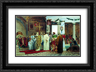 Baptism of Prince Vladimir 24x18 Black or Gold Ornate Framed and Double Matted Art Print by Fyodor Bronnikov