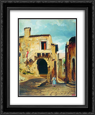 Buildings 20x24 Black or Gold Ornate Framed and Double Matted Art Print by Fyodor Bronnikov