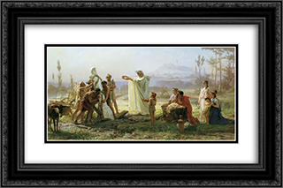 Consecration of the herm 24x16 Black or Gold Ornate Framed and Double Matted Art Print by Fyodor Bronnikov