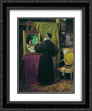 Fan 20x24 Black or Gold Ornate Framed and Double Matted Art Print by Fyodor Bronnikov