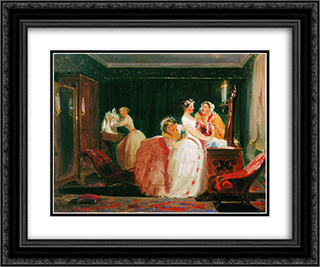 Fees for the crown 24x20 Black or Gold Ornate Framed and Double Matted Art Print by Fyodor Bronnikov