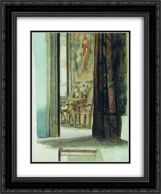 Fragment of the interior 20x24 Black or Gold Ornate Framed and Double Matted Art Print by Fyodor Bronnikov