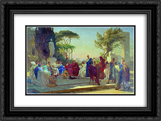 Horatius reads before Maecenas 24x18 Black or Gold Ornate Framed and Double Matted Art Print by Fyodor Bronnikov