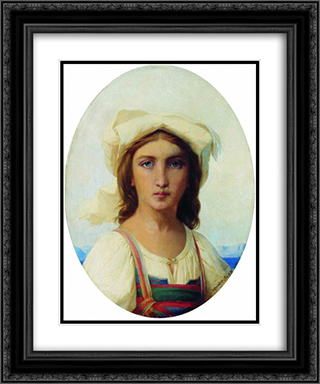 Italian woman 20x24 Black or Gold Ornate Framed and Double Matted Art Print by Fyodor Bronnikov