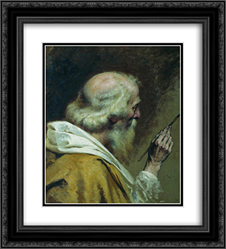 Lover of painting 20x22 Black or Gold Ornate Framed and Double Matted Art Print by Fyodor Bronnikov