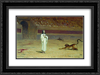 Martyr on a circus ring 24x18 Black or Gold Ornate Framed and Double Matted Art Print by Fyodor Bronnikov